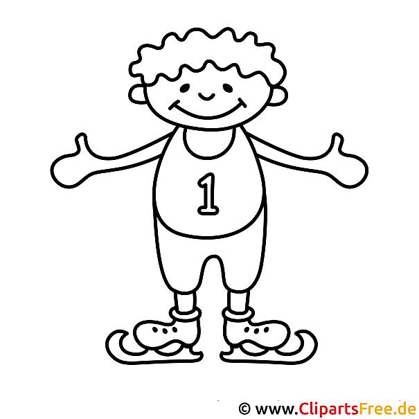 Kind auf Schlittschuhen - Kinder Malvorlagen