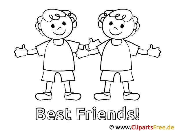 Ausmalbilder Freunde | heimhifi.com