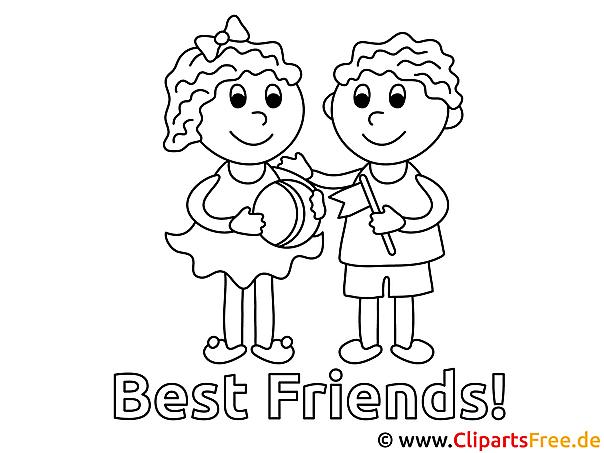 Beste Freunde Malvorlagen