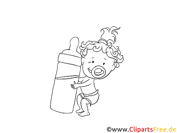 Little Baby Coloring Page free
