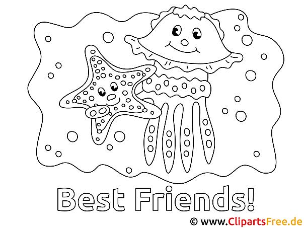 Malvorlagen fuer Kindergartenkinder mit Meeresfauna