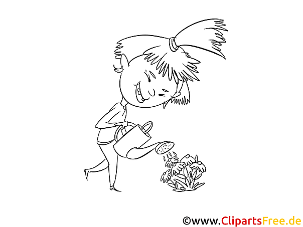 Girl Coloring Picture - Free online Coloring Pictures for Children