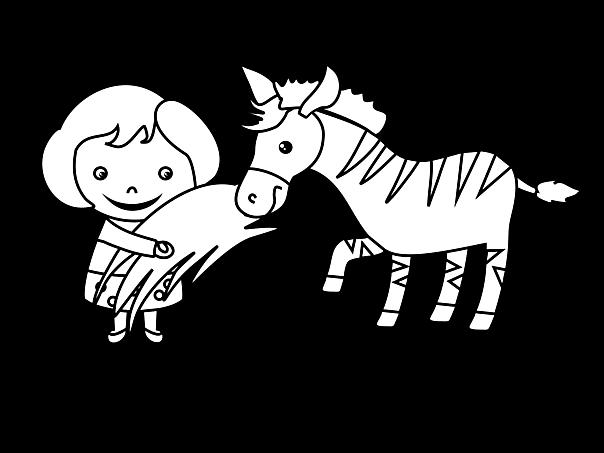 Zebra Ausmalbilder