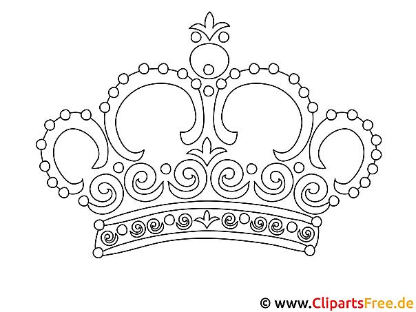 ausmalbild krone gratis
