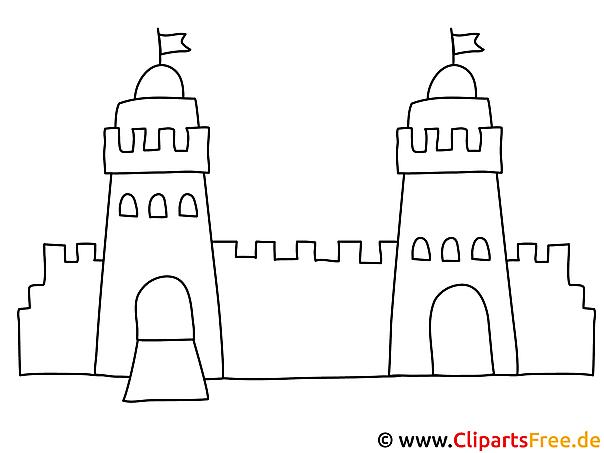 Burg Malvorlage
