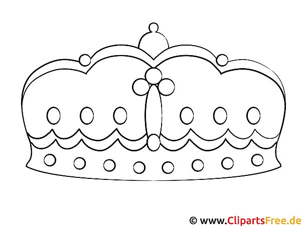 grafik zum malen krone