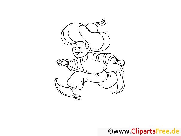 Kleiner Muck - Märchen Bilder zum Ausmalen