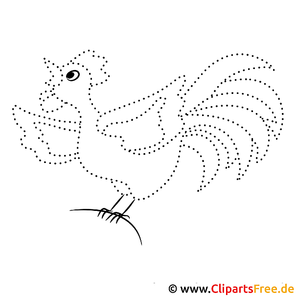 Huhn Gratis Zahlenbilder zum Ausdrucken