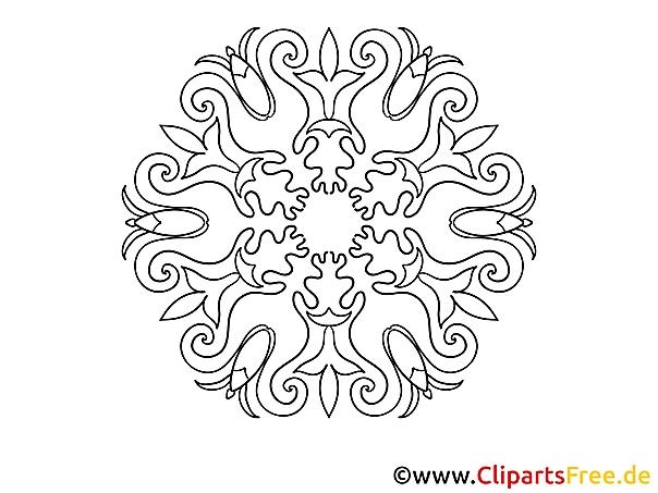Abbildung Mandala-Vorlage zum Drucken und Malen