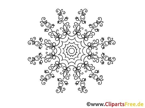 Beeren Muster Mandala-Ausmalbild gratis