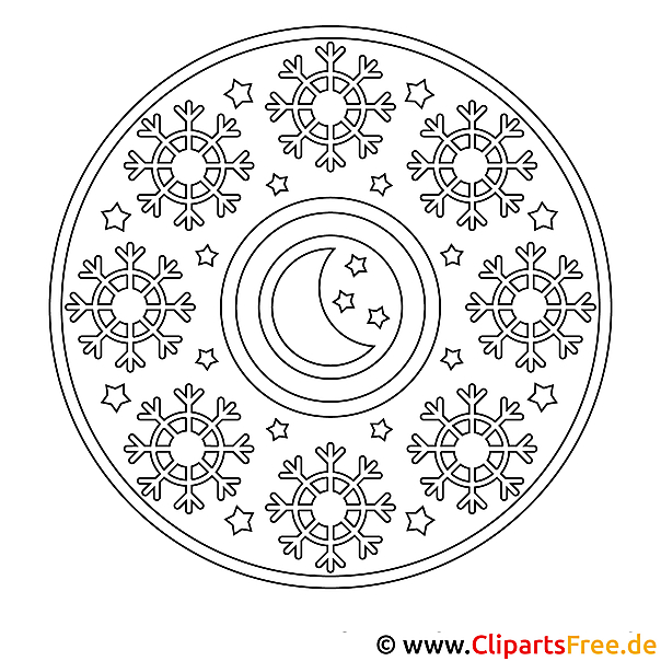 Weihnachten Mandala