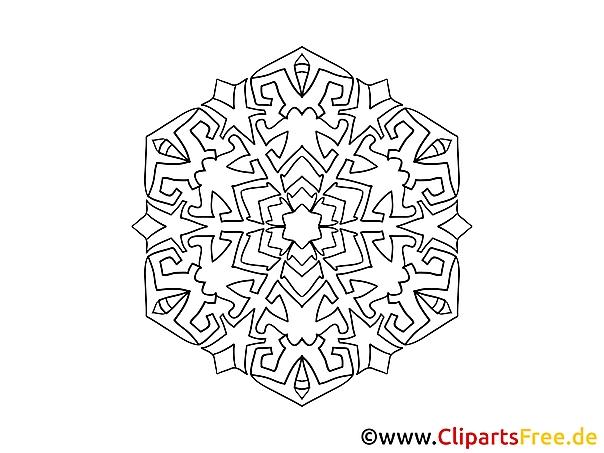 Zeichnung Mandala-Vorlage zum Drucken und Malen