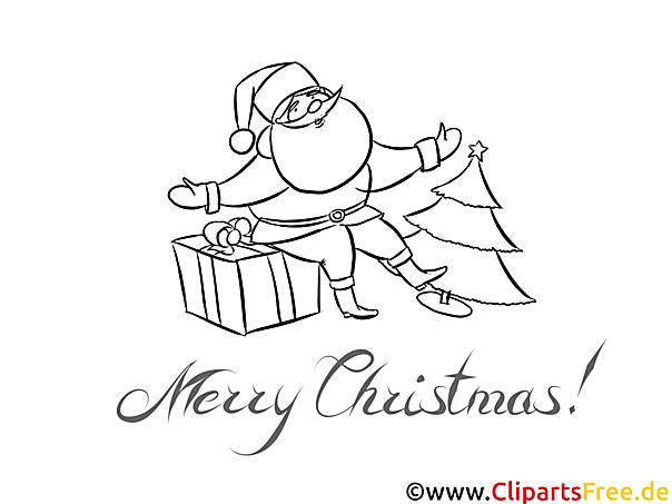 weihnachtsmann geschenk malvorlagen weihnachten und advent. Black Bedroom Furniture Sets. Home Design Ideas