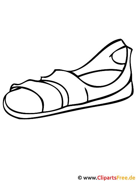 Sandalen - Mode Malvorlagen