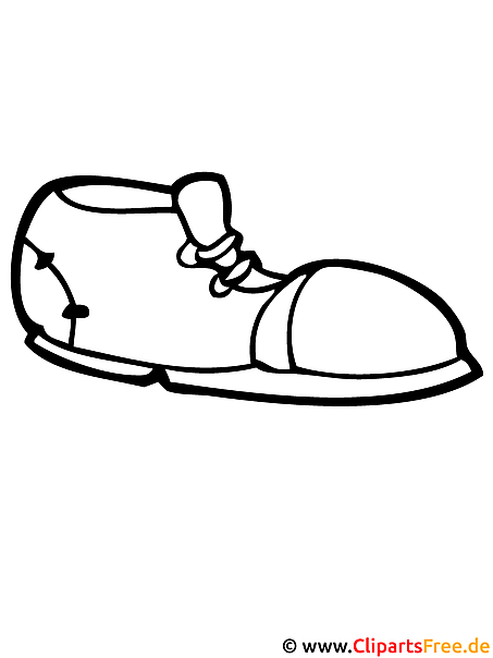 Schuh - Mode Malvorlagen