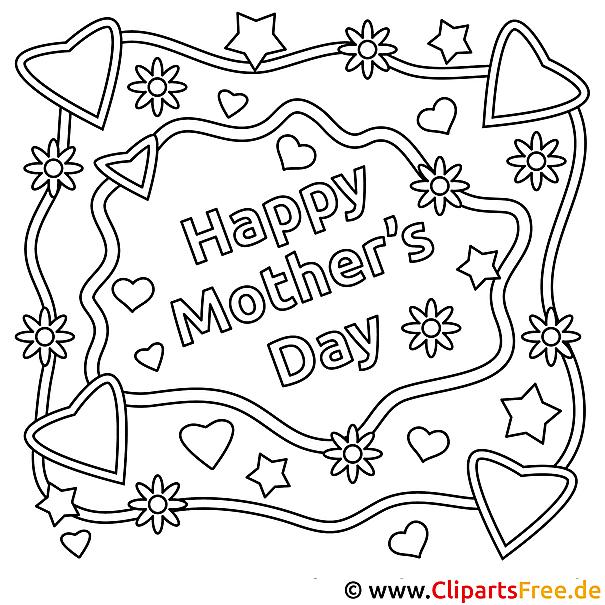Basteln zum Muttertag mit unseren Malvorlagen
