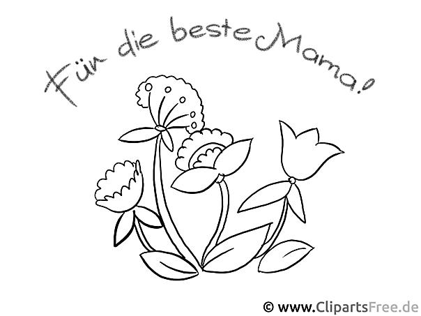 Blumen zum Muttertag zum Ausmalen