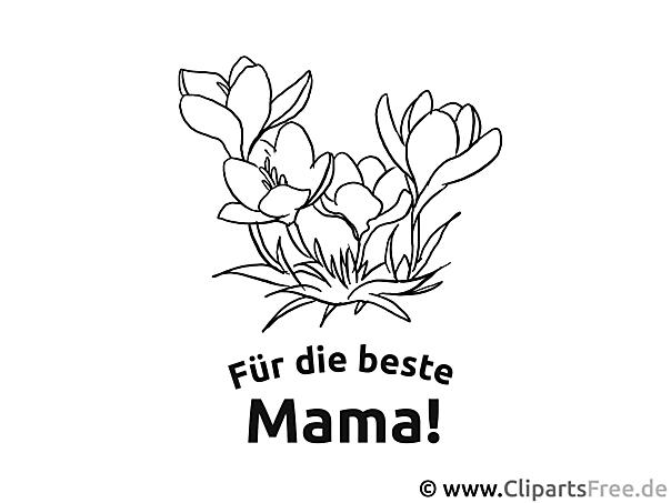 Blumenstrauß zum Muttertag - Malvorlagen zum Muttertag