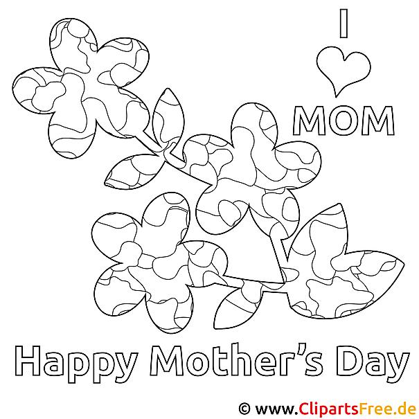 Malvorlage zum Ausdrucken zum Muttertag