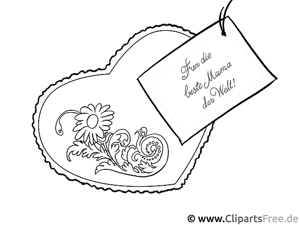 Mother Day Colouring Sheet