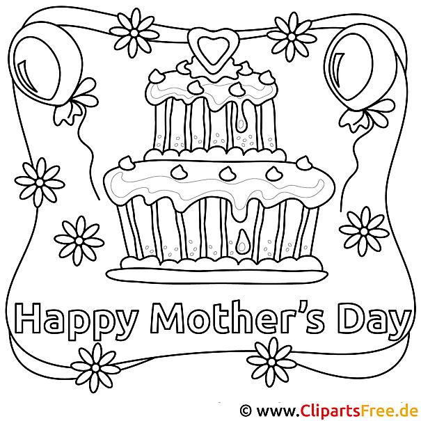 Muttertags Geschenk - Ausdrucken, ausmalen, verschenken