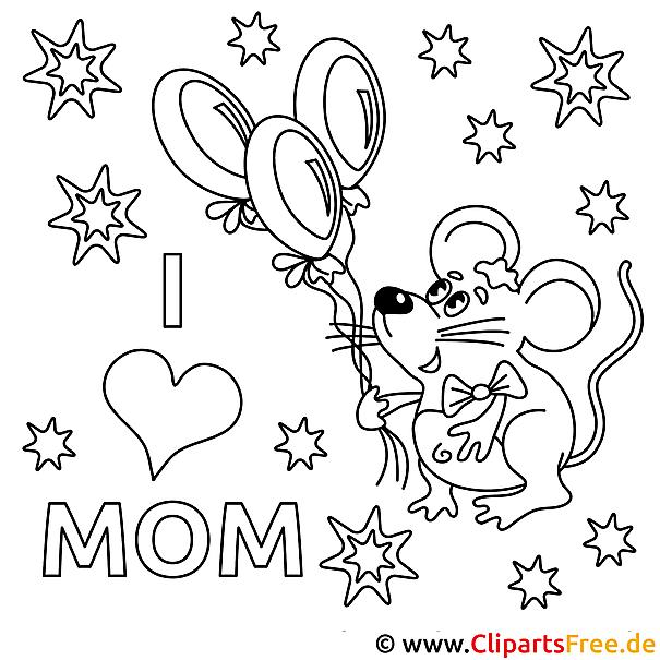 Muttertagsgeschenk basteln mit unseren Ausmalbildern