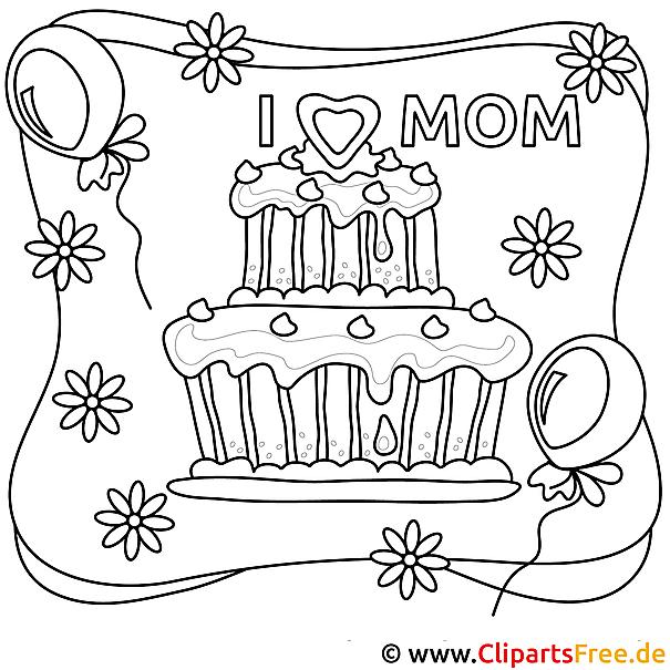 Vorlage zum Ausmalen Muttertag