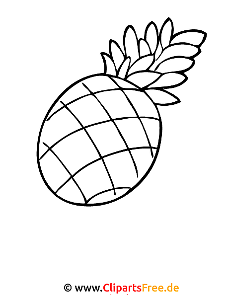 Ananas Ausmalbild Ausmalbilder Zum Ausmalen