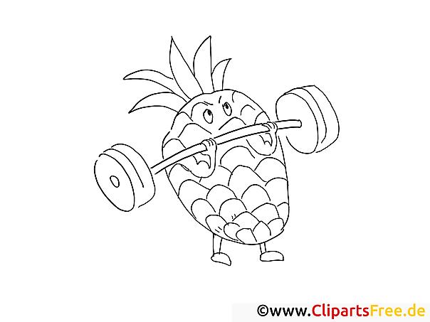 Starke Ananas Ausmalbilder Für Kinder Gratis