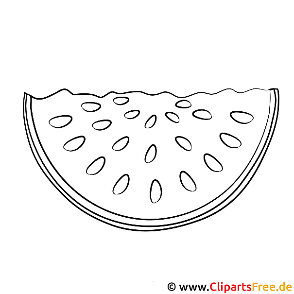 Wassermelone Bild Zum Ausmalen