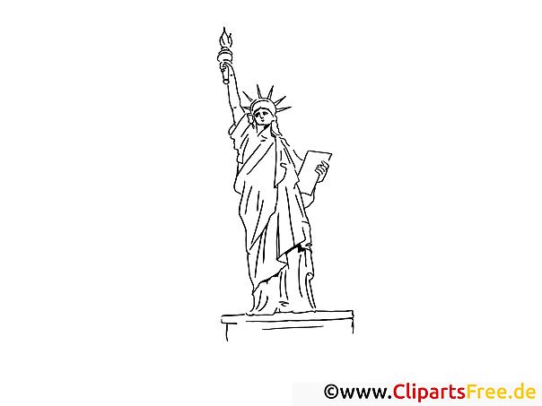 New York Freiheitsstatue Malvorlage