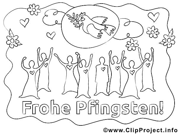 frohe pfingsten ausmalbilder für kinder gratis