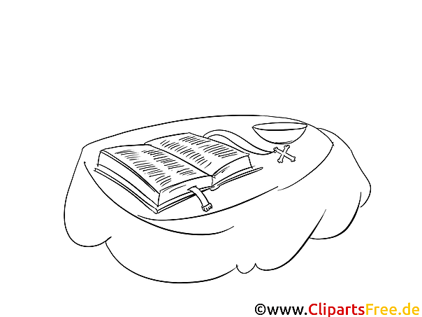 Taufbuch Ausmalbild für Kinder kostenlos ausdrucken