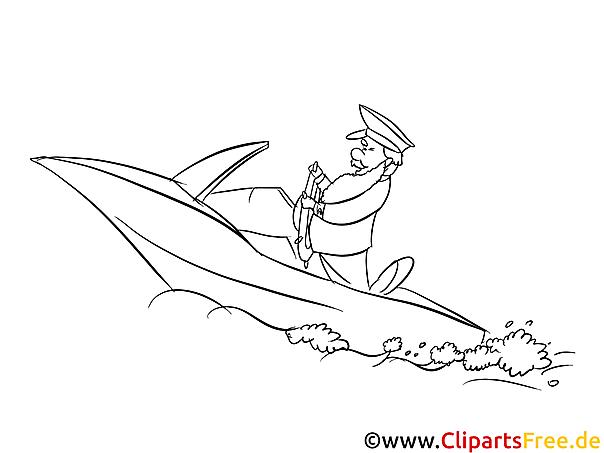 Ausmalbild Motorboot
