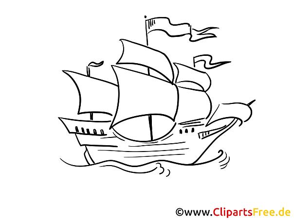 Flagge Segel Kostenlose Malvorlagen von Schiffen und Booten
