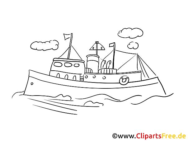 Meer Fregatte  kostenloses Ausmalbild