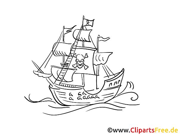 Piraten Flagge Kostenlose Malvorlagen von Schiffen und Booten