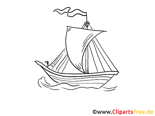 Segel Flagge Kostenlose Malvorlagen von Schiffen und Booten