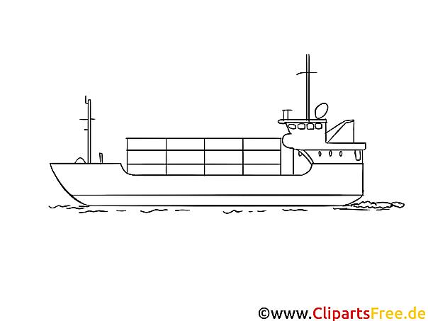 Transportschiff Ausmalbild kostenlos