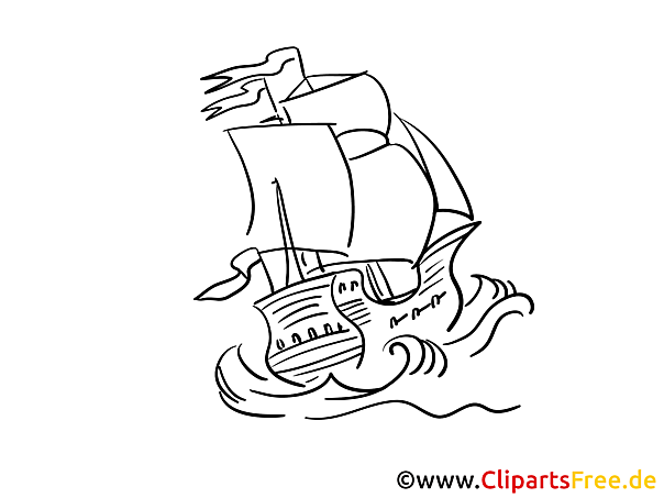 Wellen Schiff Kostenlose Malvorlagen von Schiffen und Booten