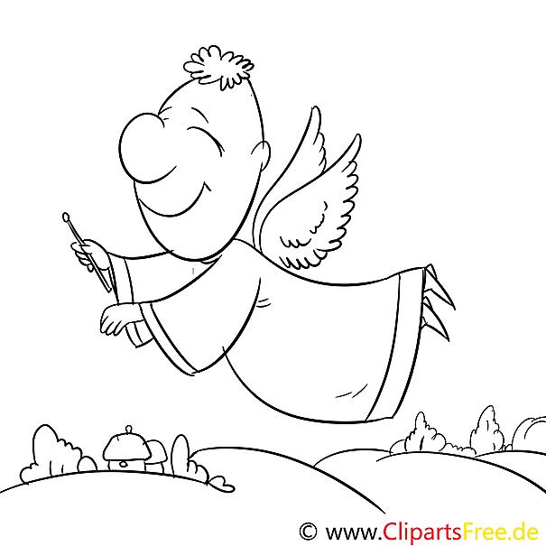 Engel Flug Ausmalbild Malvorlage Zum Drucken Und Ausmalen
