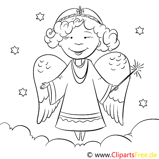 Stern Engel Malvorlage Zum Drucken Und Ausmalen