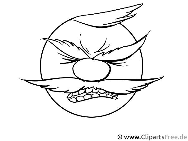 Gesicht zum Ausmalen Bild, Grafik, Cartoon