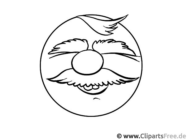 Lächeln Malvorlage