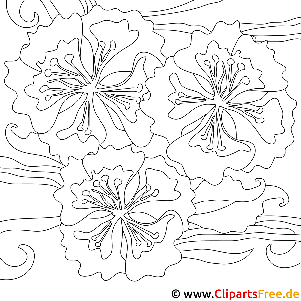 Blumen Malvorlagen zum Ausdrucken