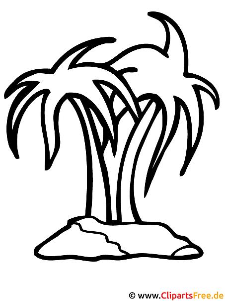 Palmen Malvorlage gratis