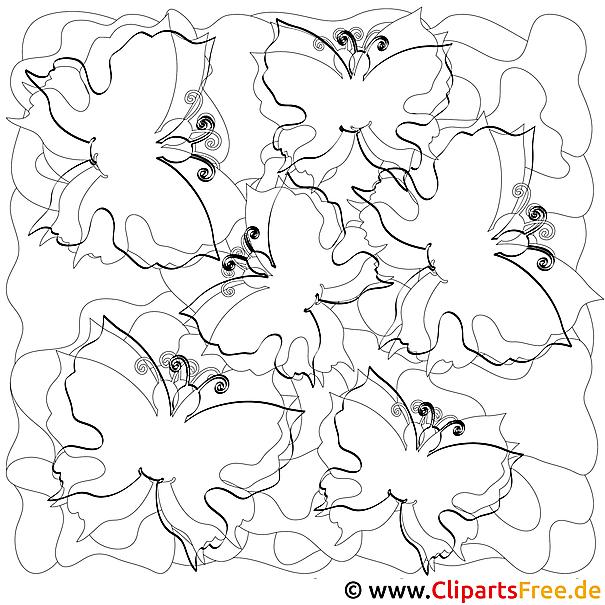 Schmetterlinge Malvorlage (2)