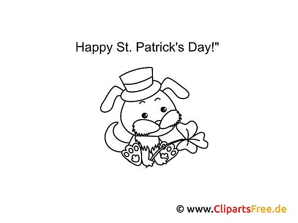 Hund St. Patrick\'s Day Ausmalbilder