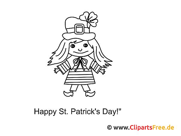 St. Patrick's Day gratis für Kinder zum Ausdrucken