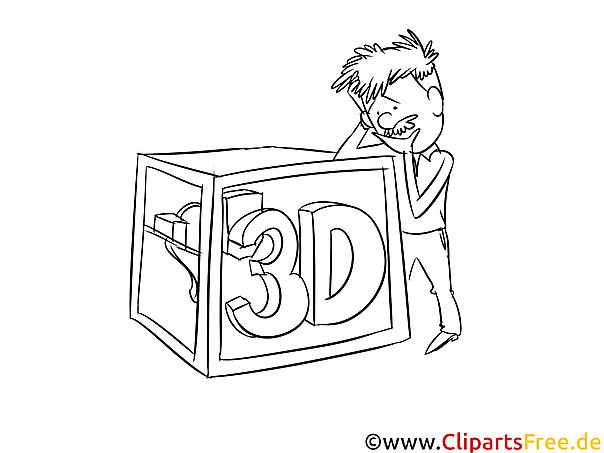 3D-Drucker Vorlage zum Ausmalen kostenlos